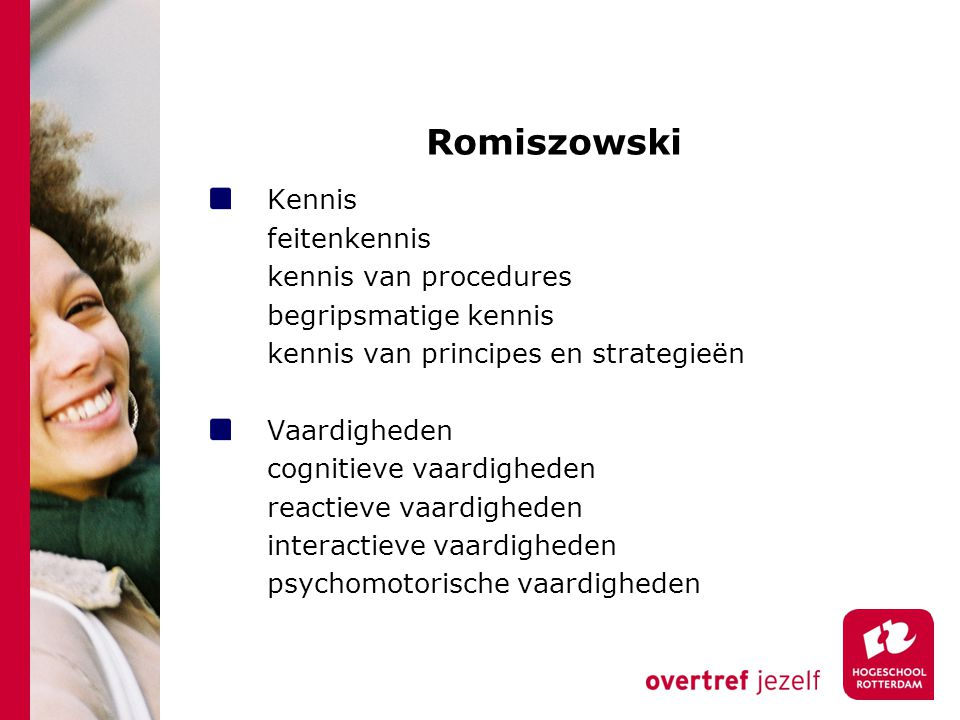 Romiszowski Kennis feitenkennis kennis van procedures