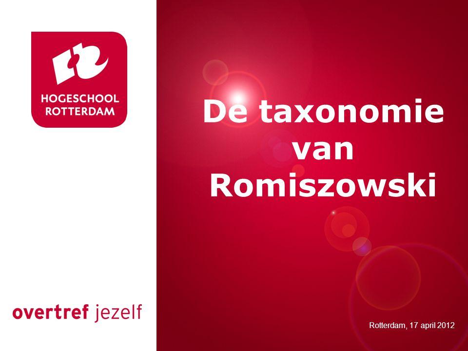 De taxonomie van Romiszowski