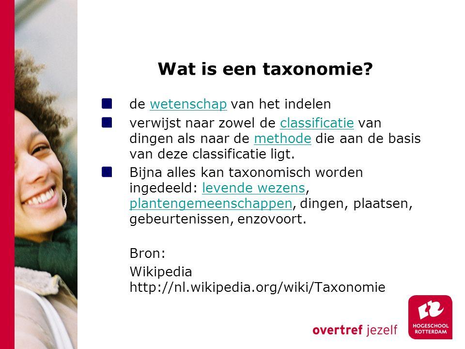 Wat is een taxonomie de wetenschap van het indelen