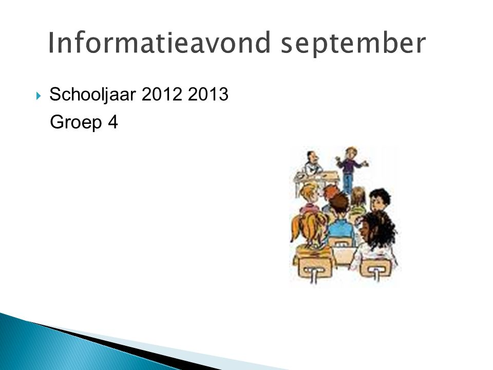 Informatieavond september