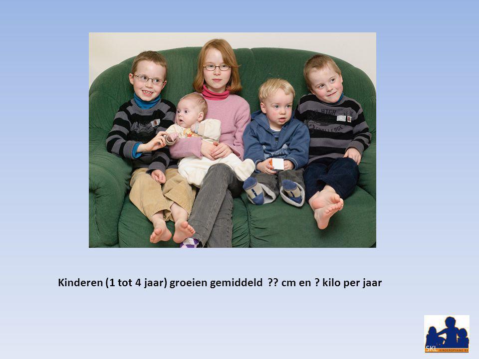 Kinderen (1 tot 4 jaar) groeien gemiddeld cm en kilo per jaar