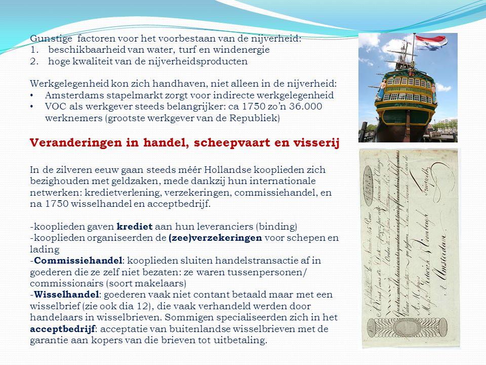 Veranderingen in handel, scheepvaart en visserij