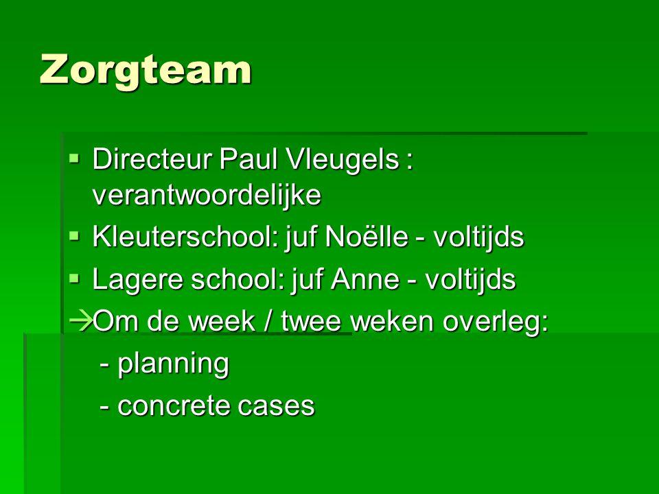 Zorgteam Directeur Paul Vleugels : verantwoordelijke