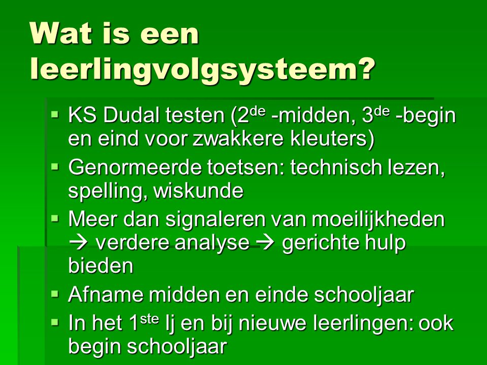 Wat is een leerlingvolgsysteem