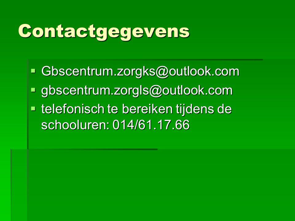 Contactgegevens Gbscentrum.zorgks@outlook.com
