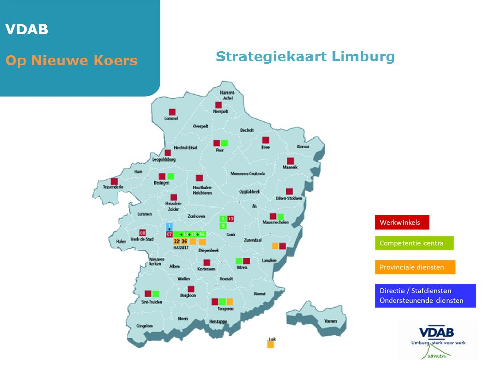 VDAB Strategiekaart Limburg Op Nieuwe Koers