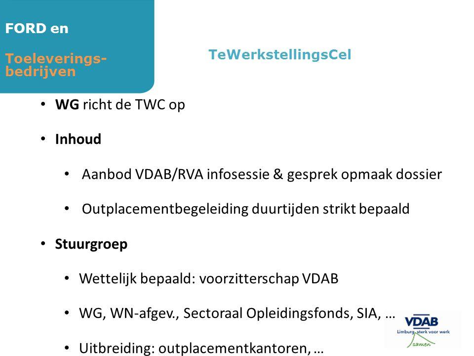 Aanbod VDAB/RVA infosessie & gesprek opmaak dossier