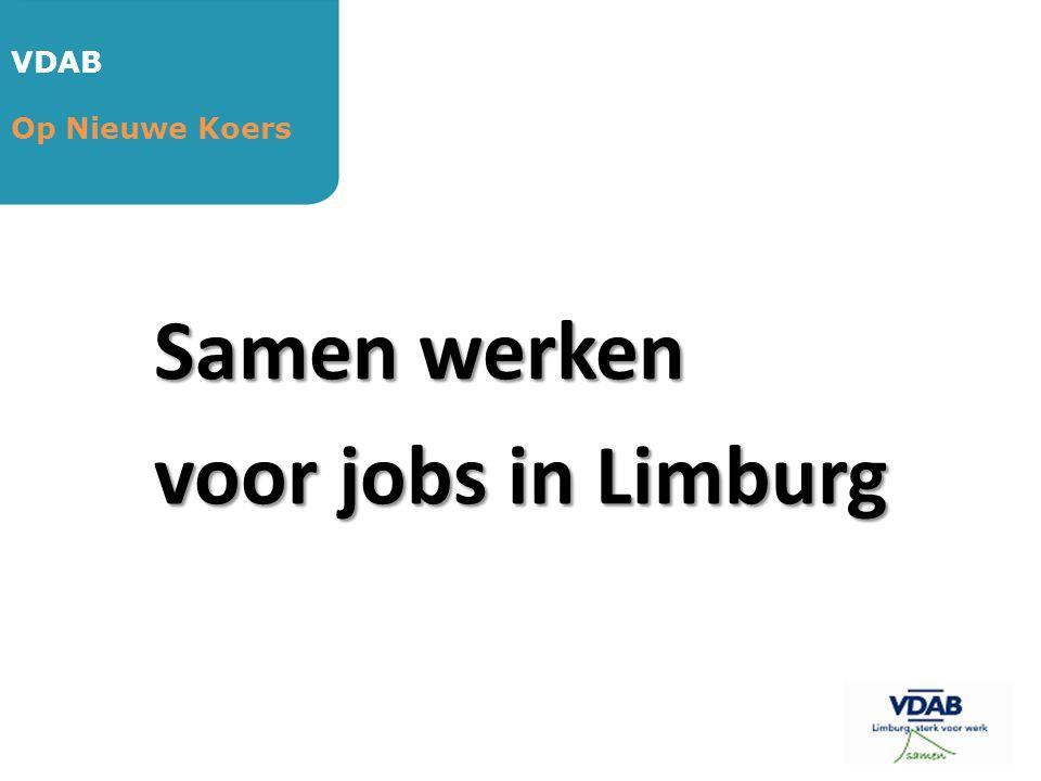 Samen werken voor jobs in Limburg