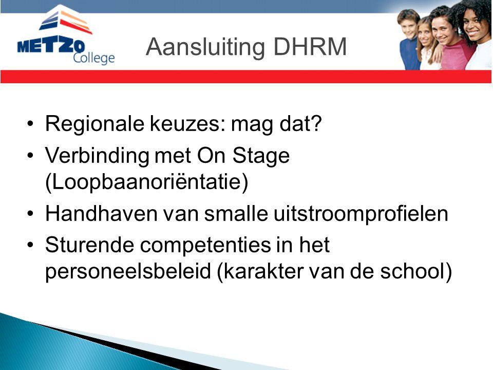 Aansluiting DHRM Regionale keuzes: mag dat
