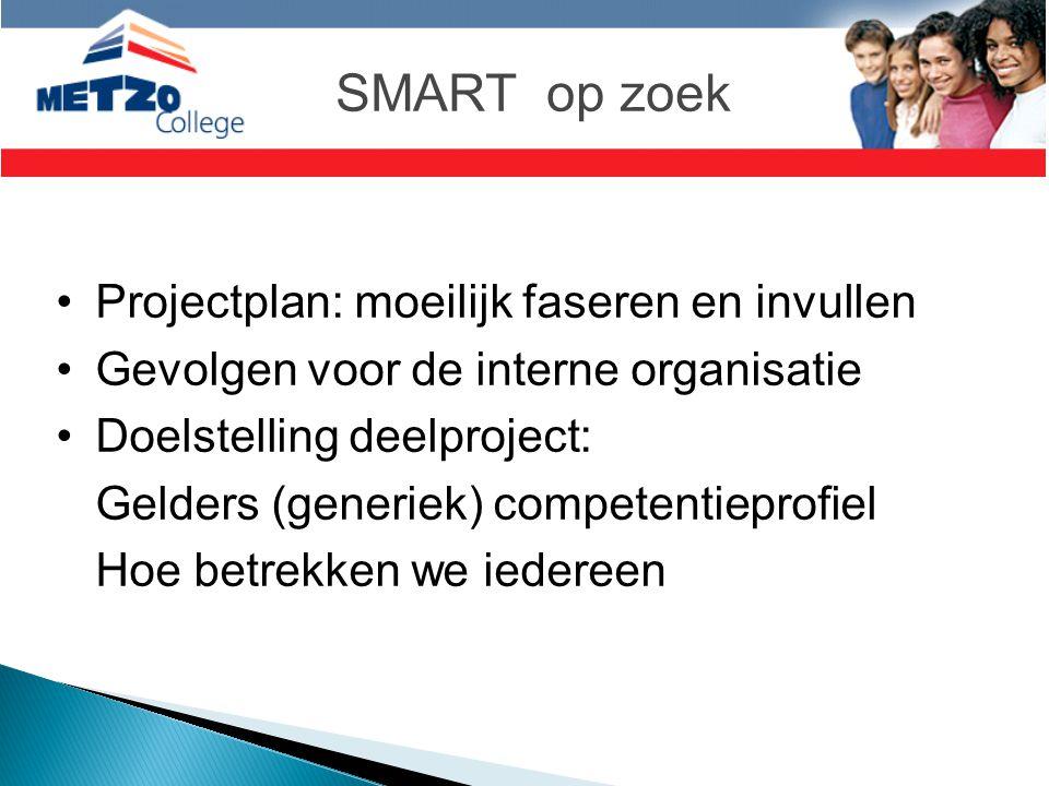 SMART op zoek Projectplan: moeilijk faseren en invullen