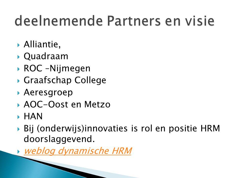 deelnemende Partners en visie