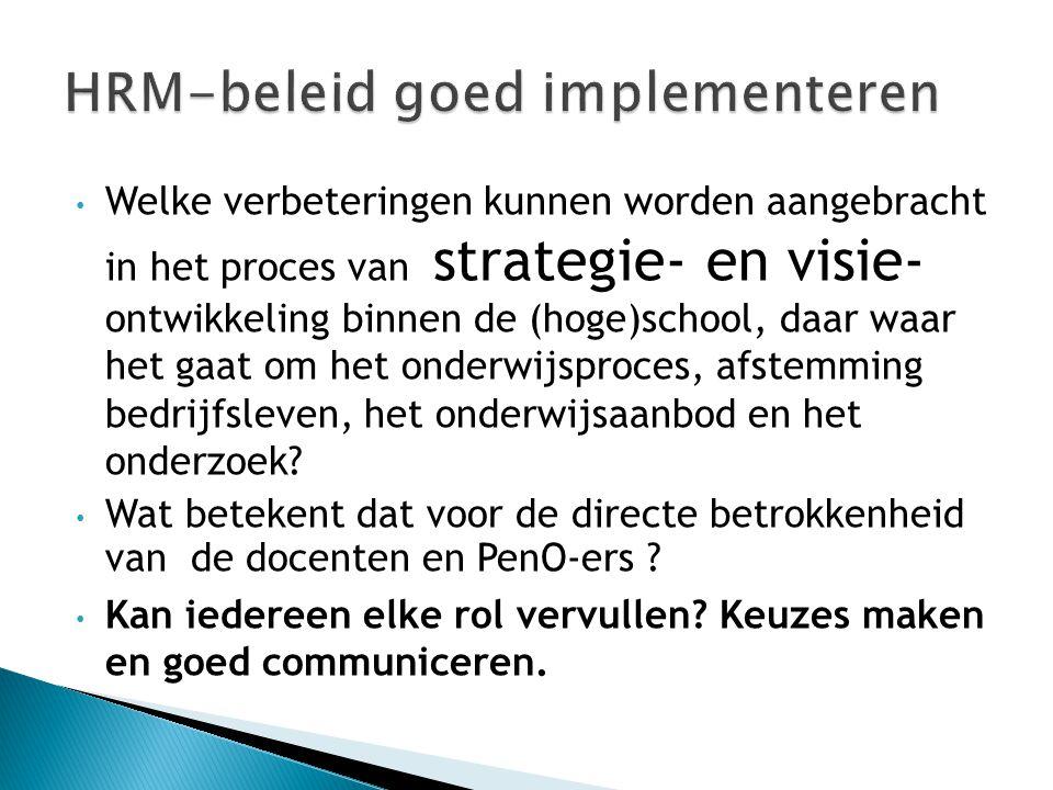 HRM-beleid goed implementeren
