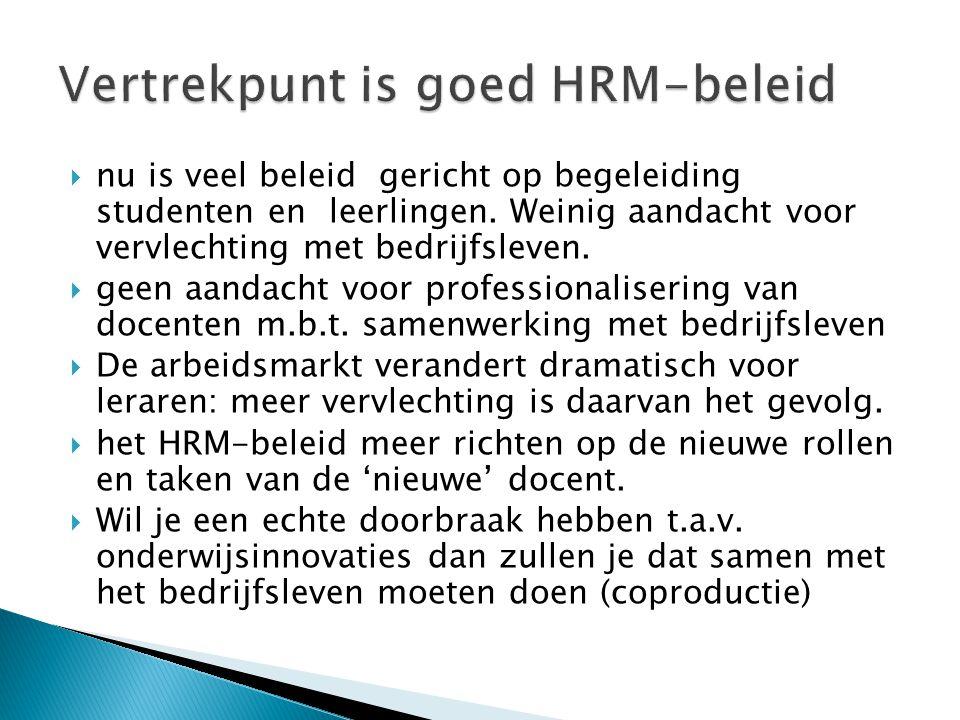Vertrekpunt is goed HRM-beleid