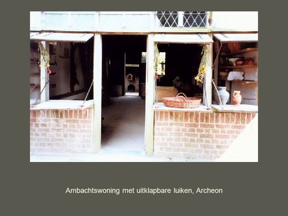 Ambachtswoning met uitklapbare luiken, Archeon