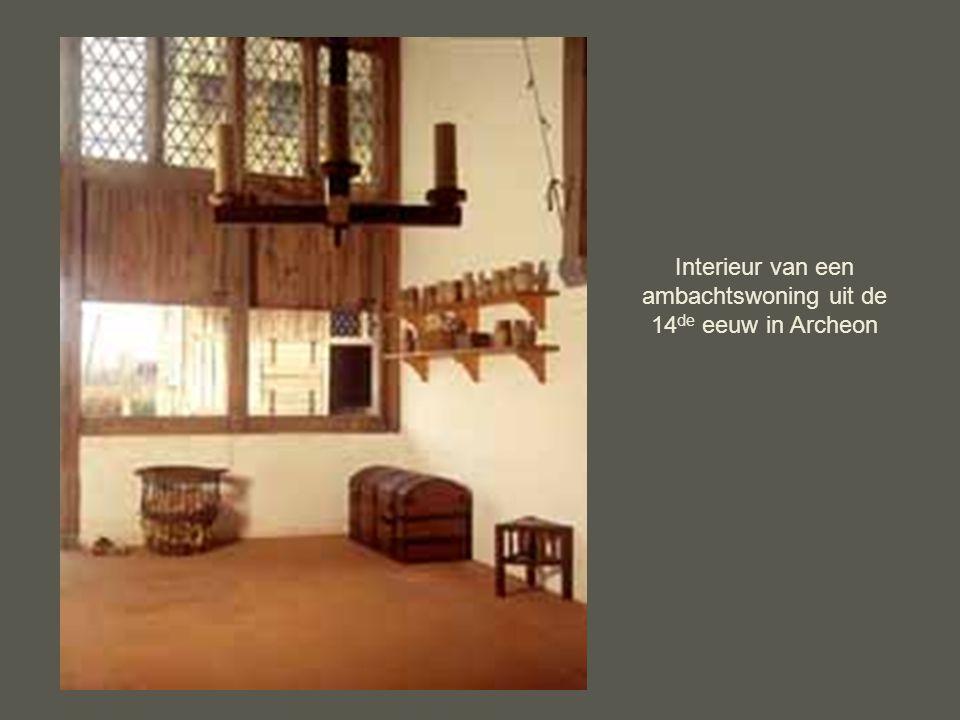 Interieur van een ambachtswoning uit de 14de eeuw in Archeon