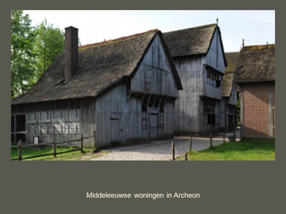 Middeleeuwse woningen in Archeon