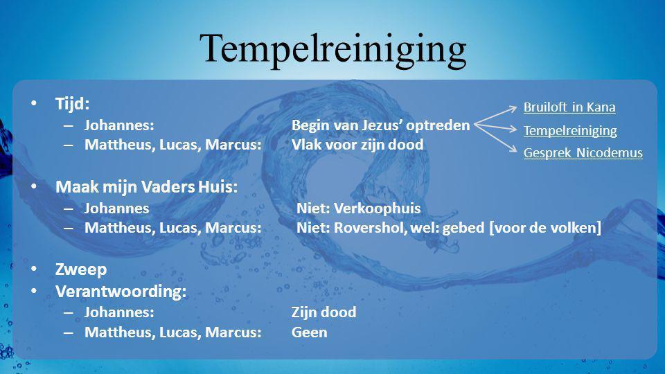 Tempelreiniging Tijd: Maak mijn Vaders Huis: Zweep Verantwoording: