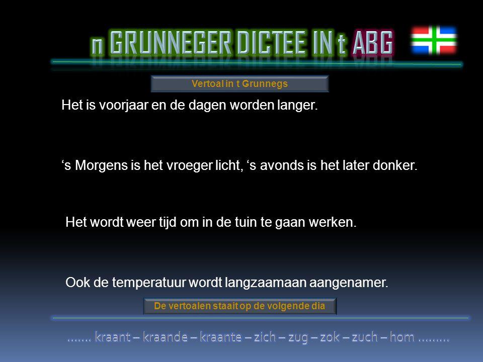n GRUNNEGER DICTEE IN t ABG