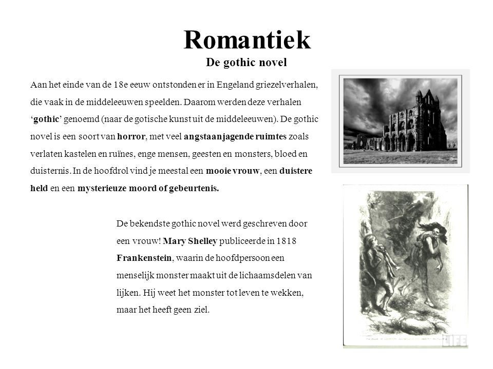 Romantiek De gothic novel