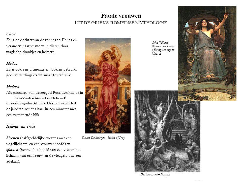 Fatale vrouwen UIT DE GRIEKS-ROMEINSE MYTHOLOGIE