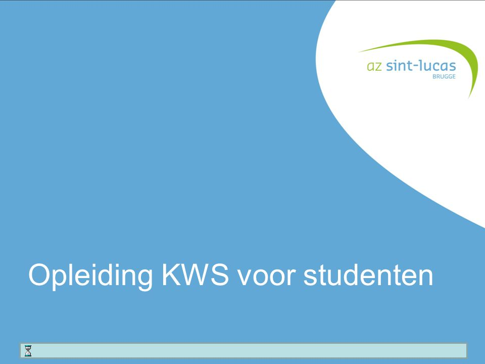 Opleiding KWS voor studenten