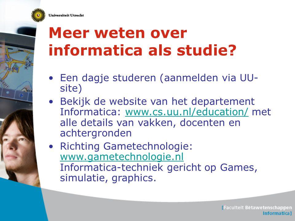 Meer weten over informatica als studie