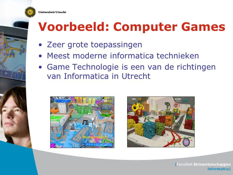 Voorbeeld: Computer Games