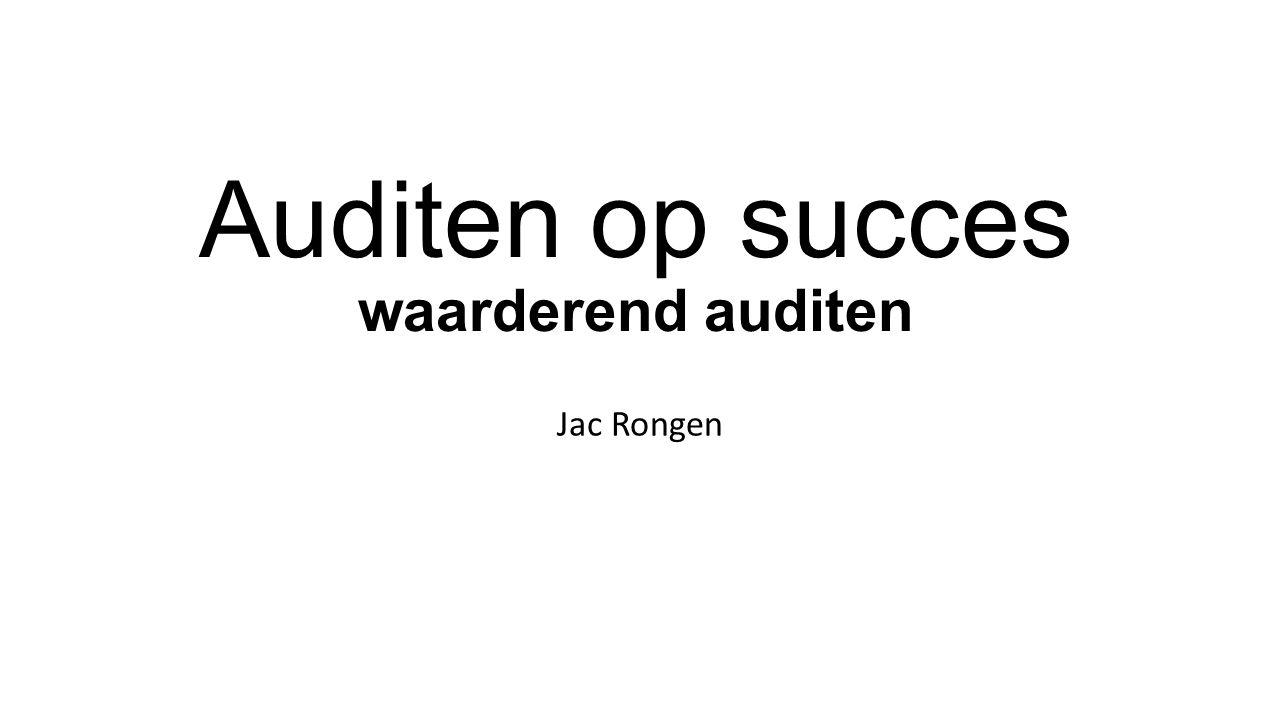 Auditen op succes waarderend auditen