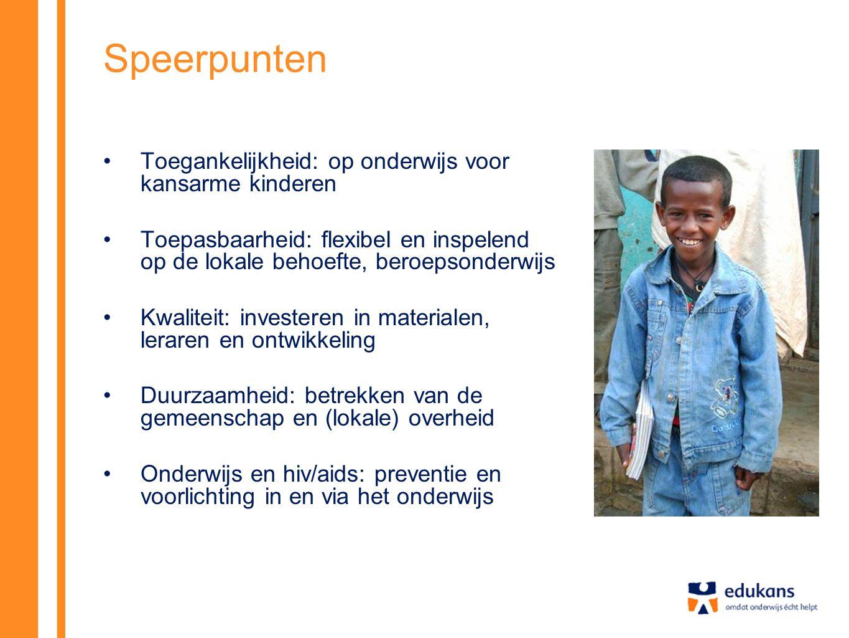 Speerpunten Toegankelijkheid: op onderwijs voor kansarme kinderen