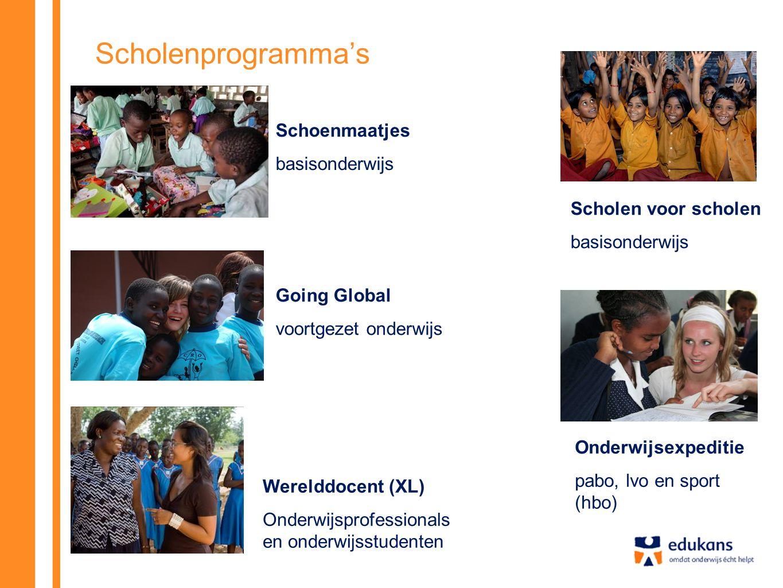 Scholenprogramma's Schoenmaatjes basisonderwijs Scholen voor scholen