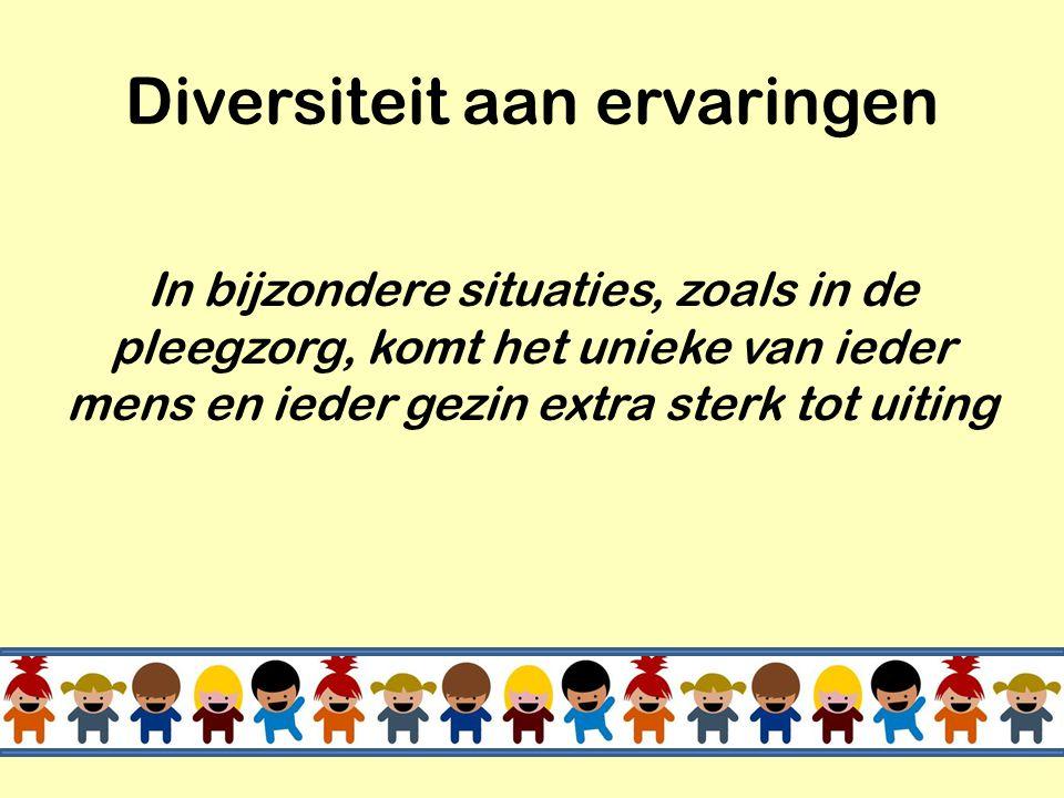 Diversiteit aan ervaringen
