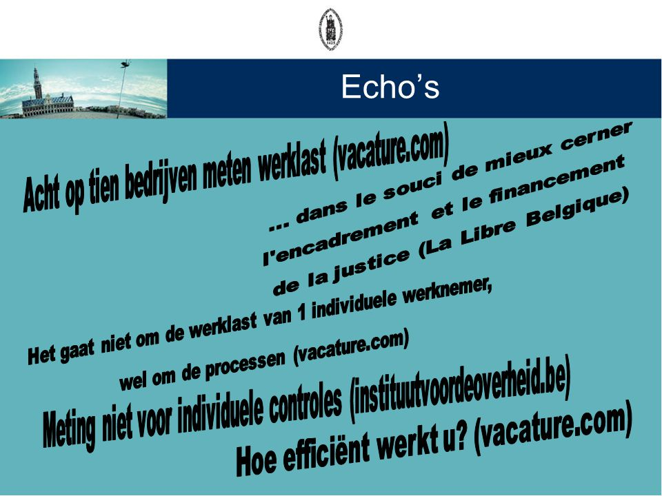 Echo's Hoe efficiënt werkt u (vacature.com)