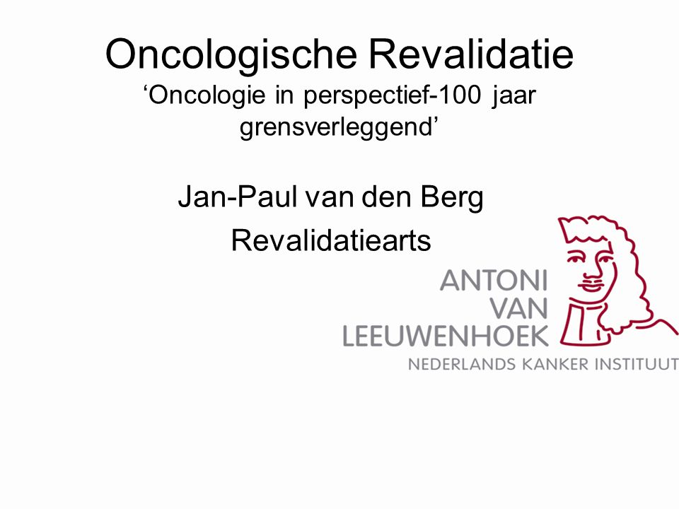 Jan-Paul van den Berg Revalidatiearts