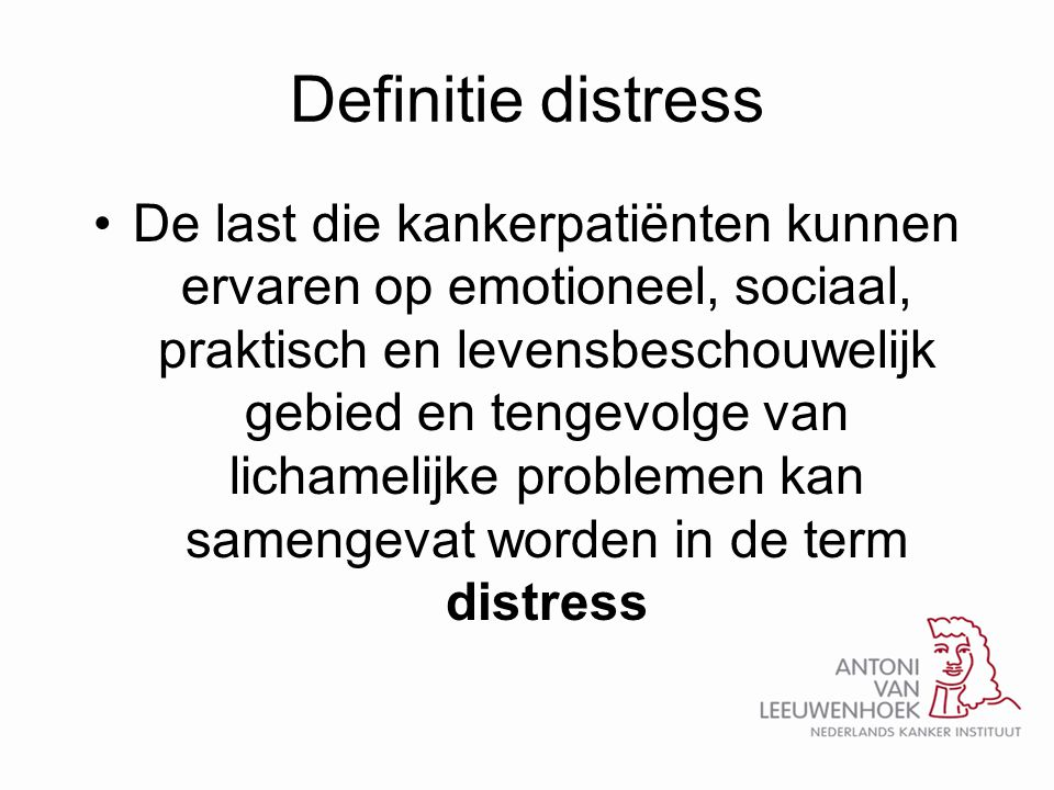 Definitie distress