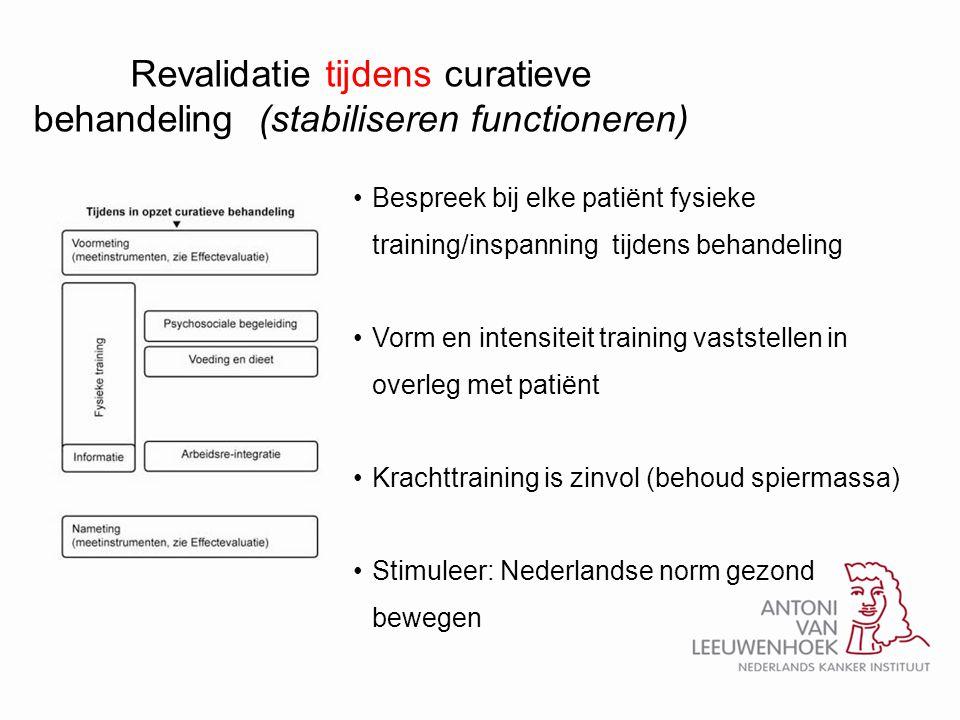 Revalidatie tijdens curatieve behandeling (stabiliseren functioneren)