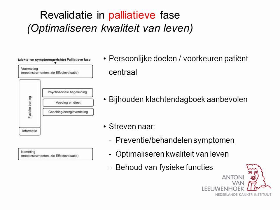 Revalidatie in palliatieve fase (Optimaliseren kwaliteit van leven)