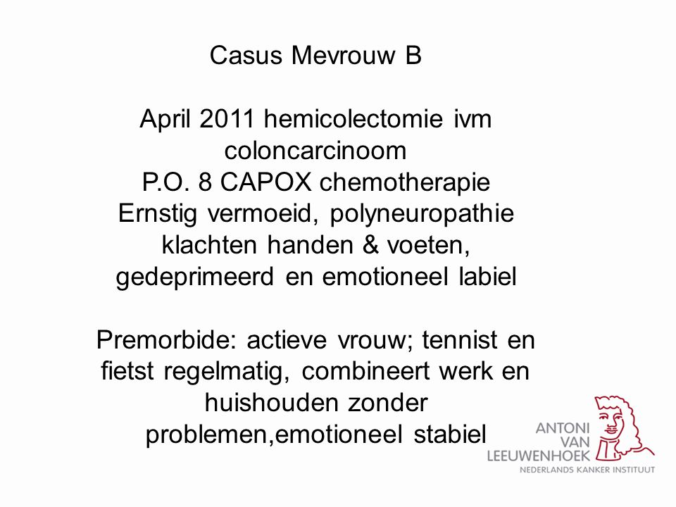 April 2011 hemicolectomie ivm coloncarcinoom
