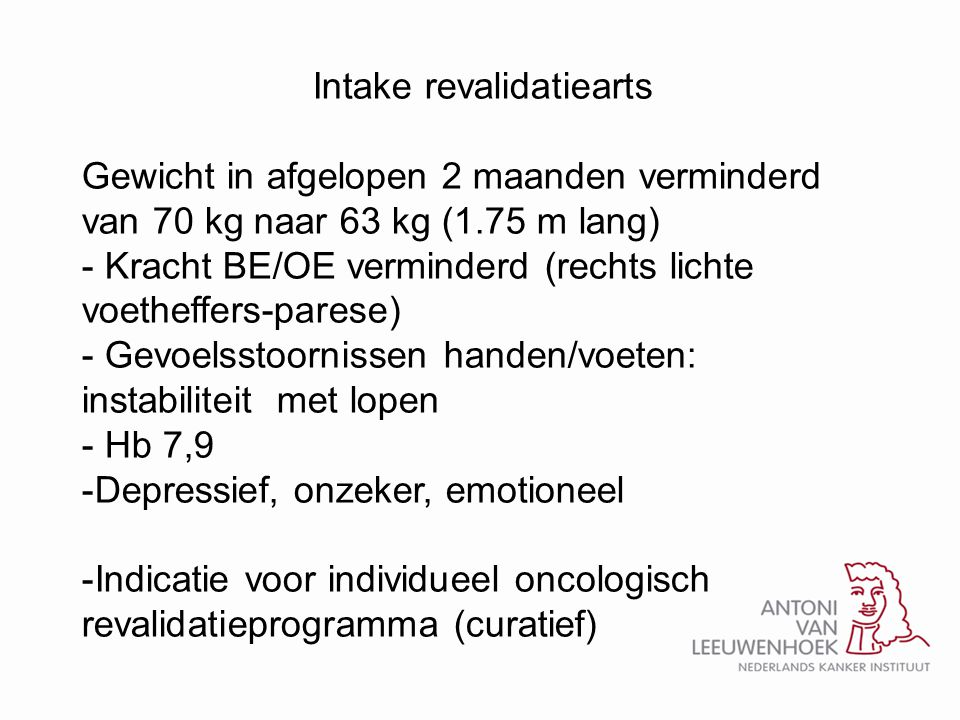 Intake revalidatiearts