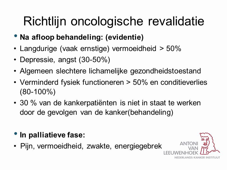 Richtlijn oncologische revalidatie