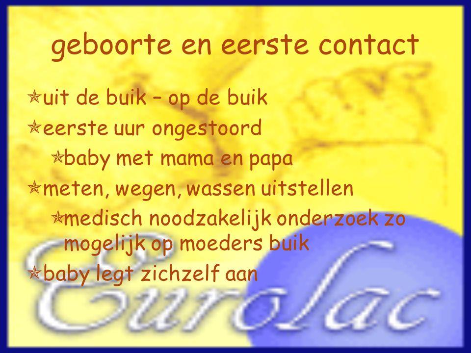 geboorte en eerste contact