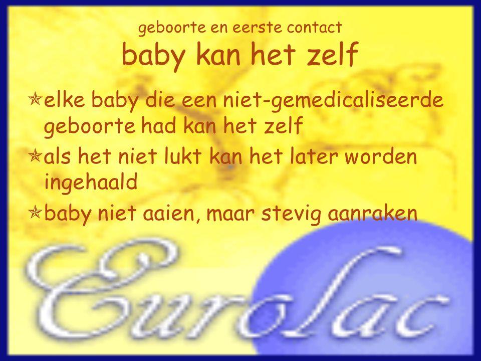geboorte en eerste contact baby kan het zelf