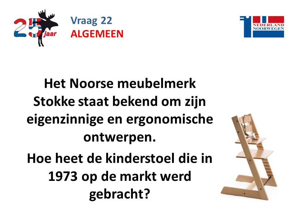 Hoe heet de kinderstoel die in 1973 op de markt werd gebracht