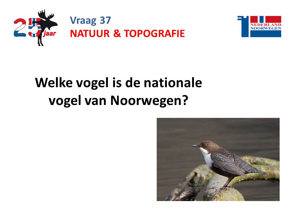 Welke vogel is de nationale vogel van Noorwegen