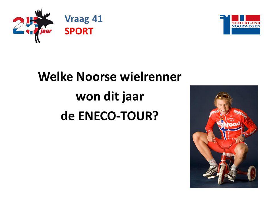 Welke Noorse wielrenner won dit jaar de ENECO-TOUR