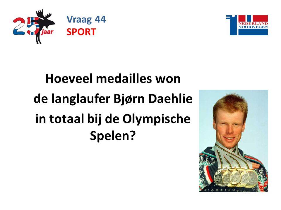 de langlaufer Bjørn Daehlie in totaal bij de Olympische Spelen
