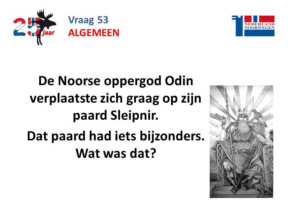 De Noorse oppergod Odin verplaatste zich graag op zijn paard Sleipnir.