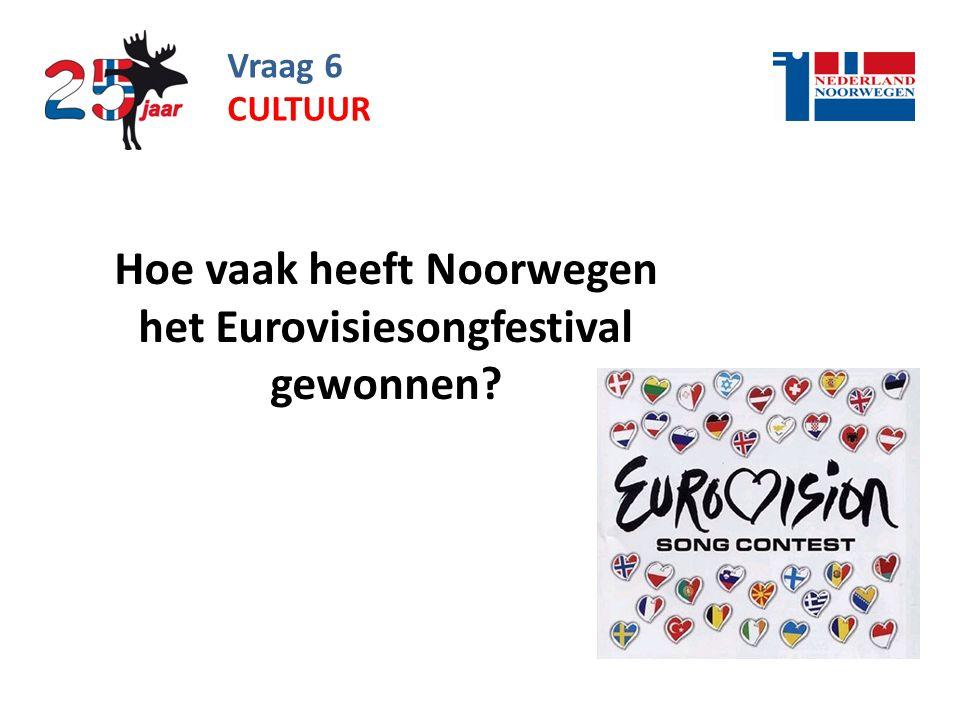 Hoe vaak heeft Noorwegen het Eurovisiesongfestival gewonnen