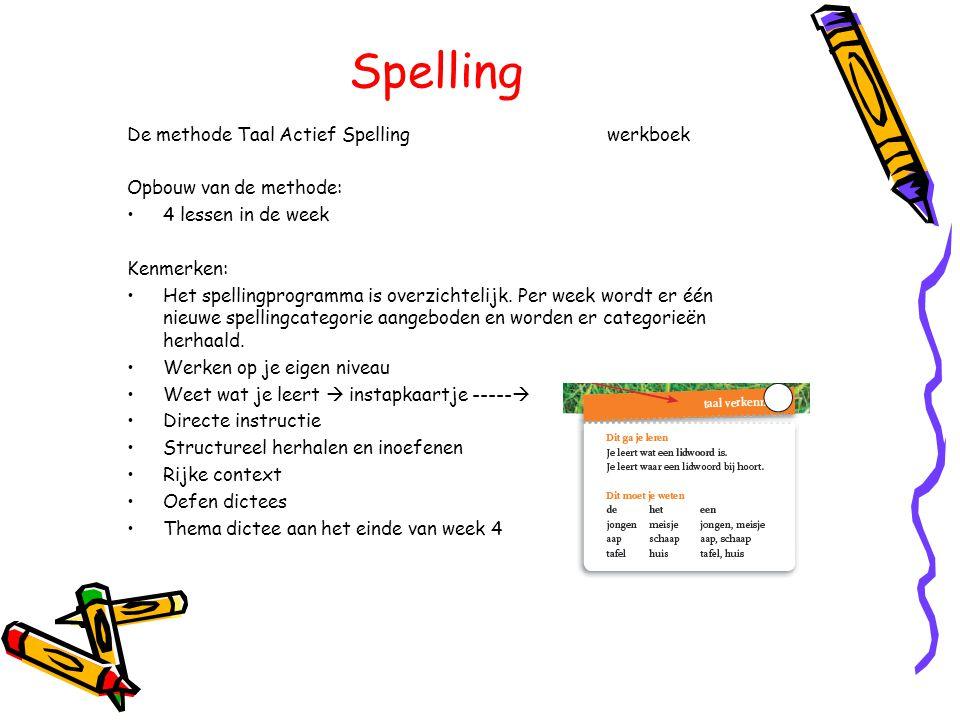 Spelling De methode Taal Actief Spelling werkboek