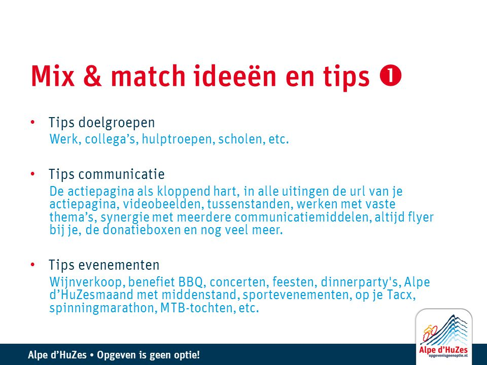 Mix & match ideeën en tips 