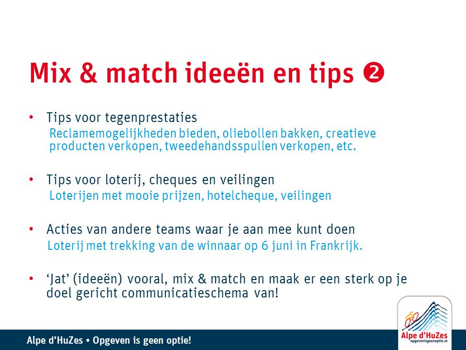 Mix & match ideeën en tips 